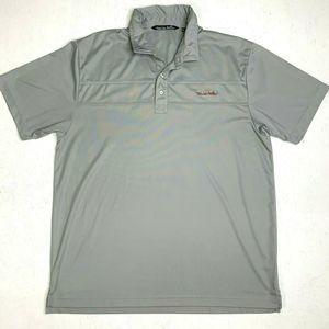 Travis Mathew Golf Shirt Athletic Casual Gray Polo